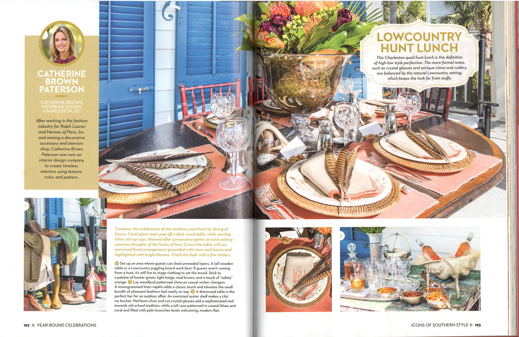 SOUTHERN LIVING CHRISTMAS COOKBOOK — CATHERINE BROWN PATERSON DESIGN