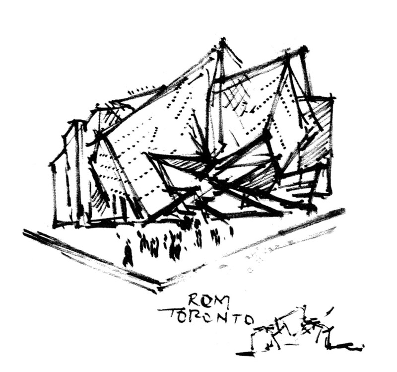 Daniel Libeskind - ROM Napkin Sketch - Retrieved from  https://bit.ly/2bLgxGv