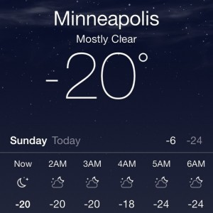 20 Below in Minneapolis