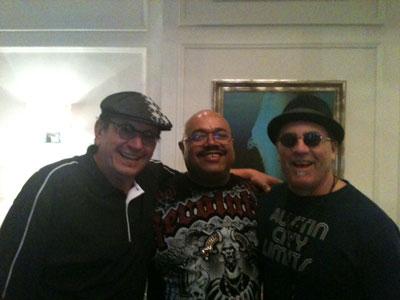 Me, Dennis Chambers and Dave Mathews (both play with Santana)