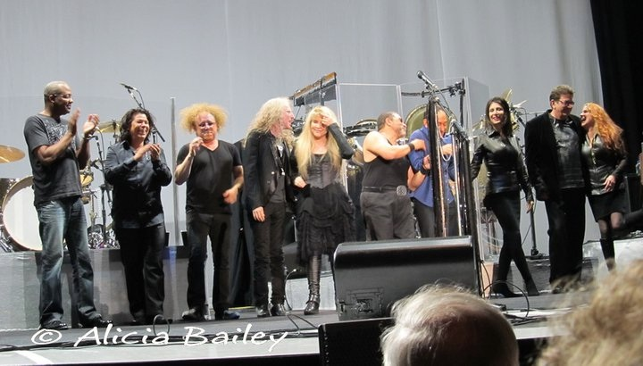 Stevie Nicks Band: Darrel, Al, Jimmy, Waddy, Stevie, Lenny, Carlos, Sharon, me and Lori.