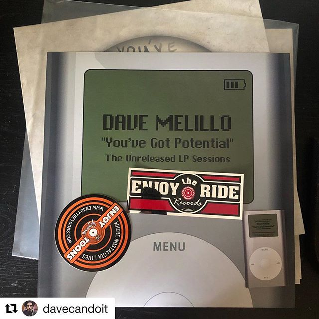 #Repost @davecandoit with @get_repost ・・・ Check out the alternate artwork for the LP 🙌 you can grab it at enjoytheriderecords.com. Link is in the bio!! If you swipe left you can see an iPod mini I wrapped in DTR stickers when I was 17 🤦♂️ Everyone in @cuteiswhatweaimfor_official made fun of me at the time. I guess they were on to something. Funny how things come full circle .....