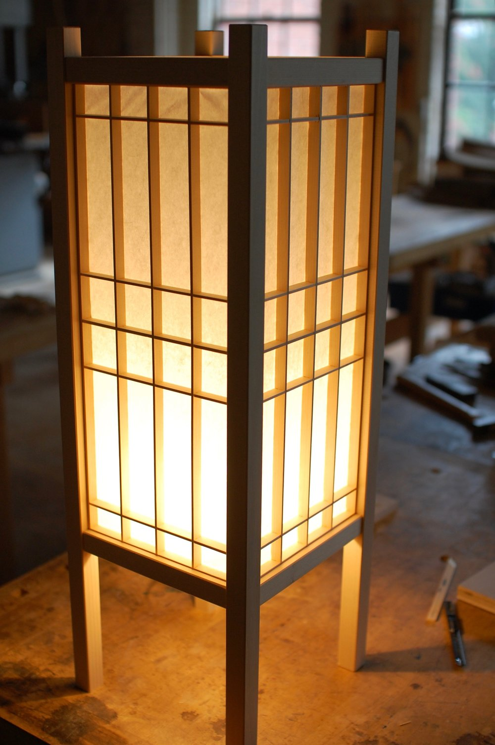Andon making a traditional japanese lamp philadelphia furniture workshop