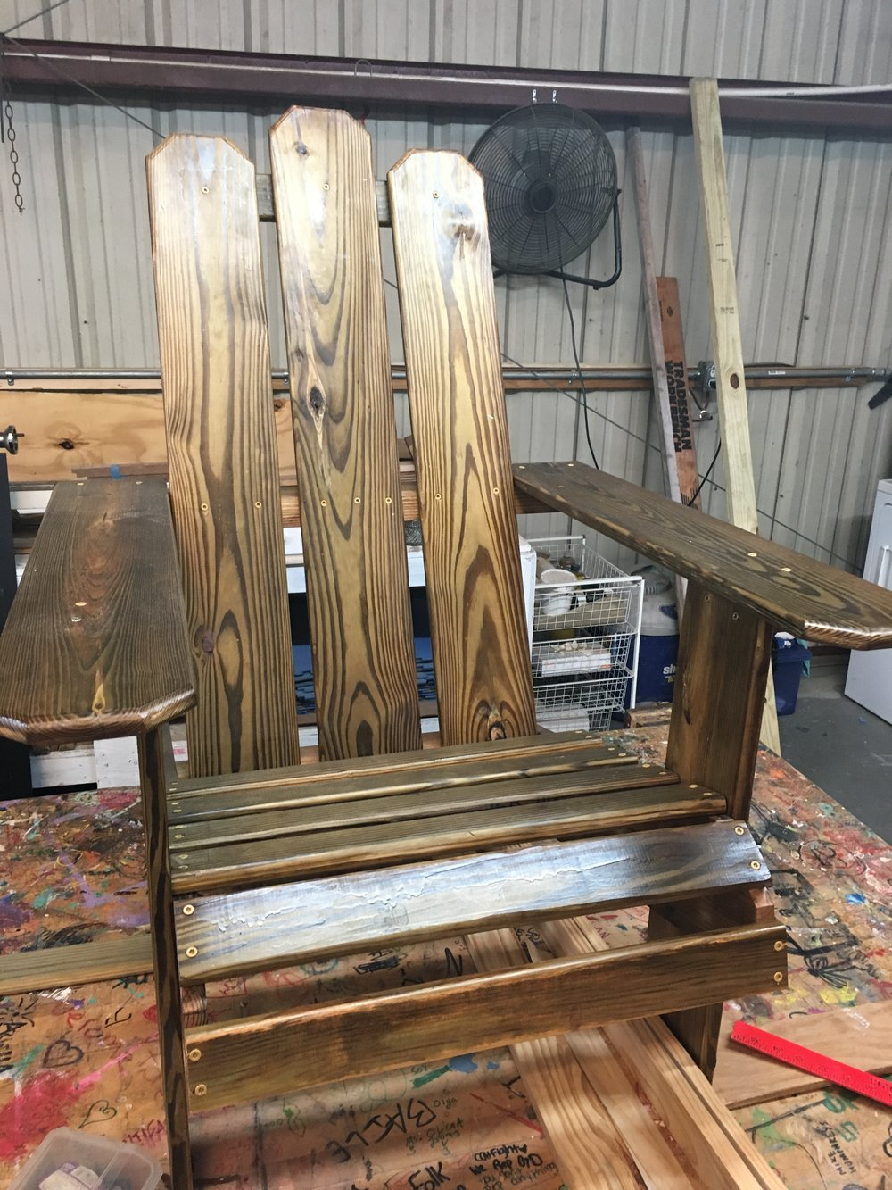 Stained Or Painted Adirondack Chair. Example Only