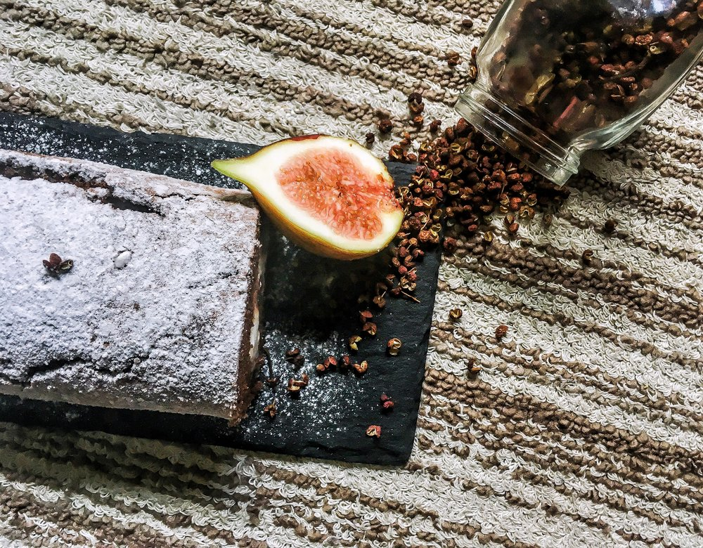 Cocoa, Fig, and Peppercorn Swiss Roll