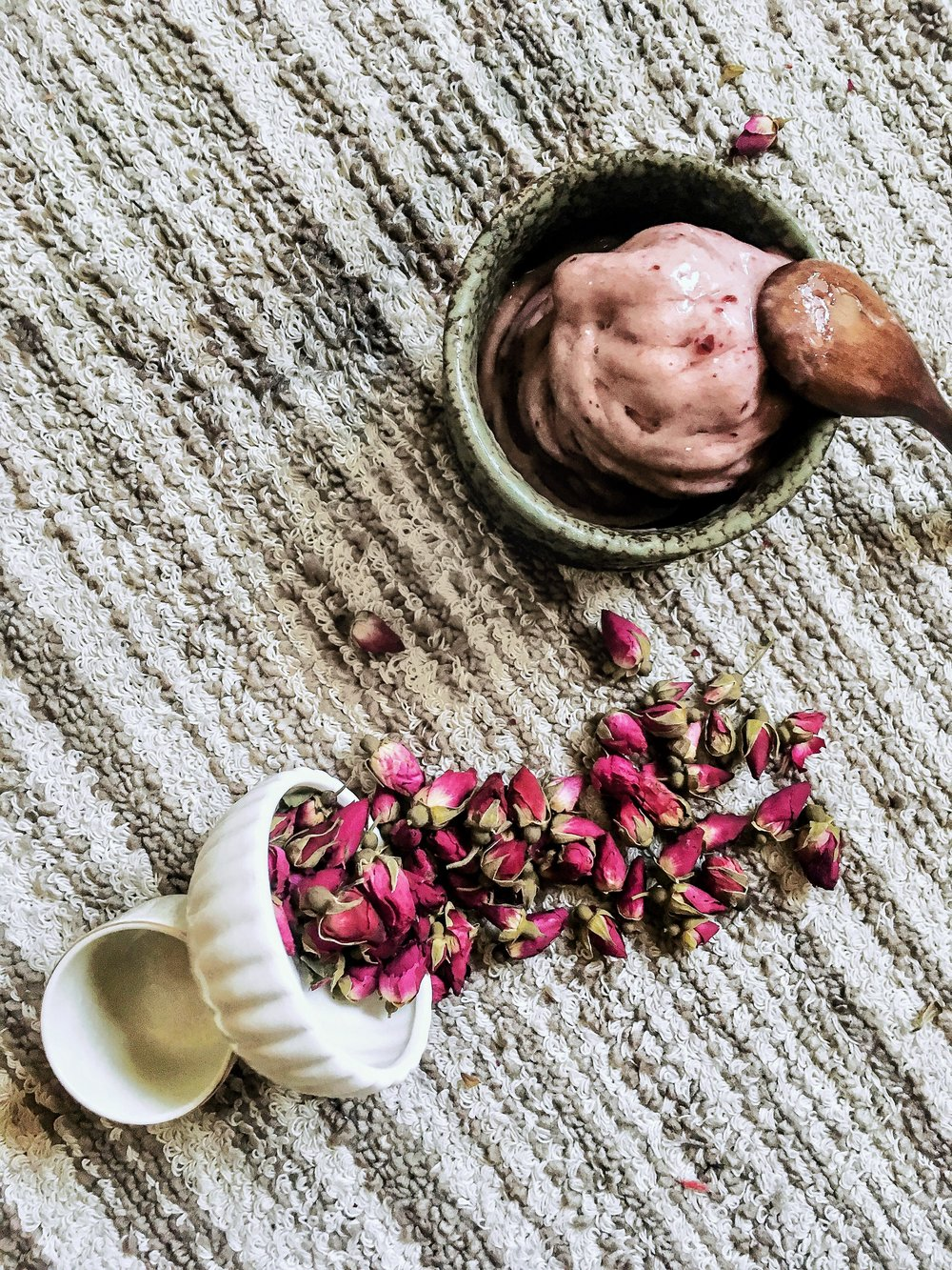 Cherry & Rose Tea Affogato
