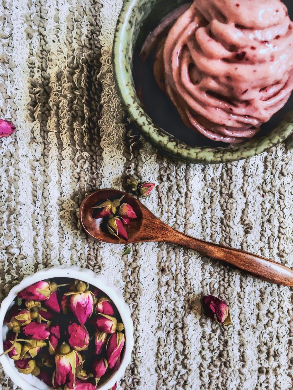 Cherry & Rose Tea Affogato