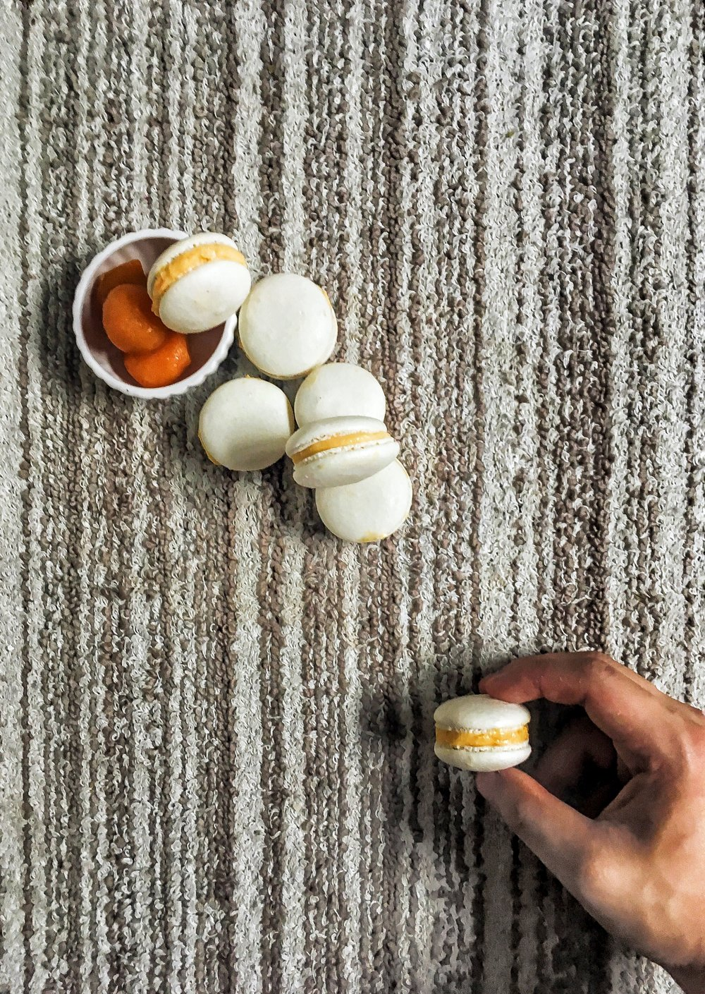 Salted Egg Yolk Macarons