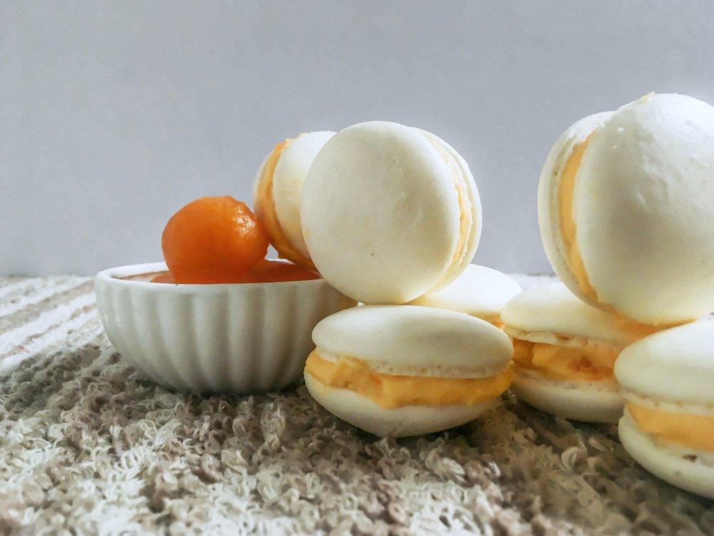 Salted Egg Yolk Macarons