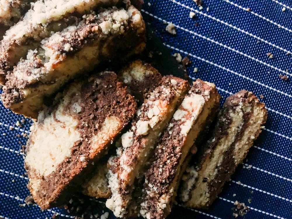 Chocolate & Honey Marble Cake