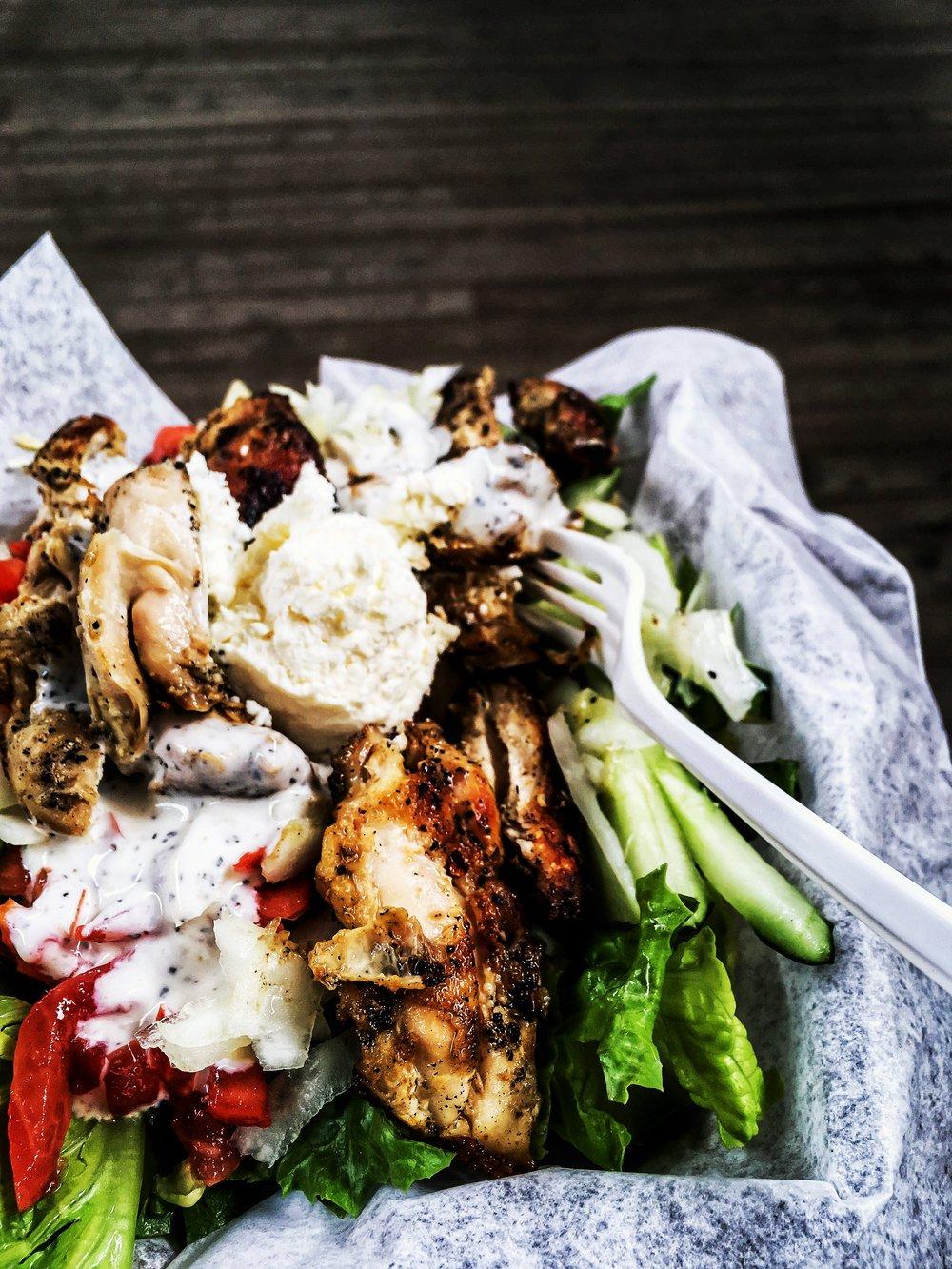 Greek Chicken Salad with Tzatziki
