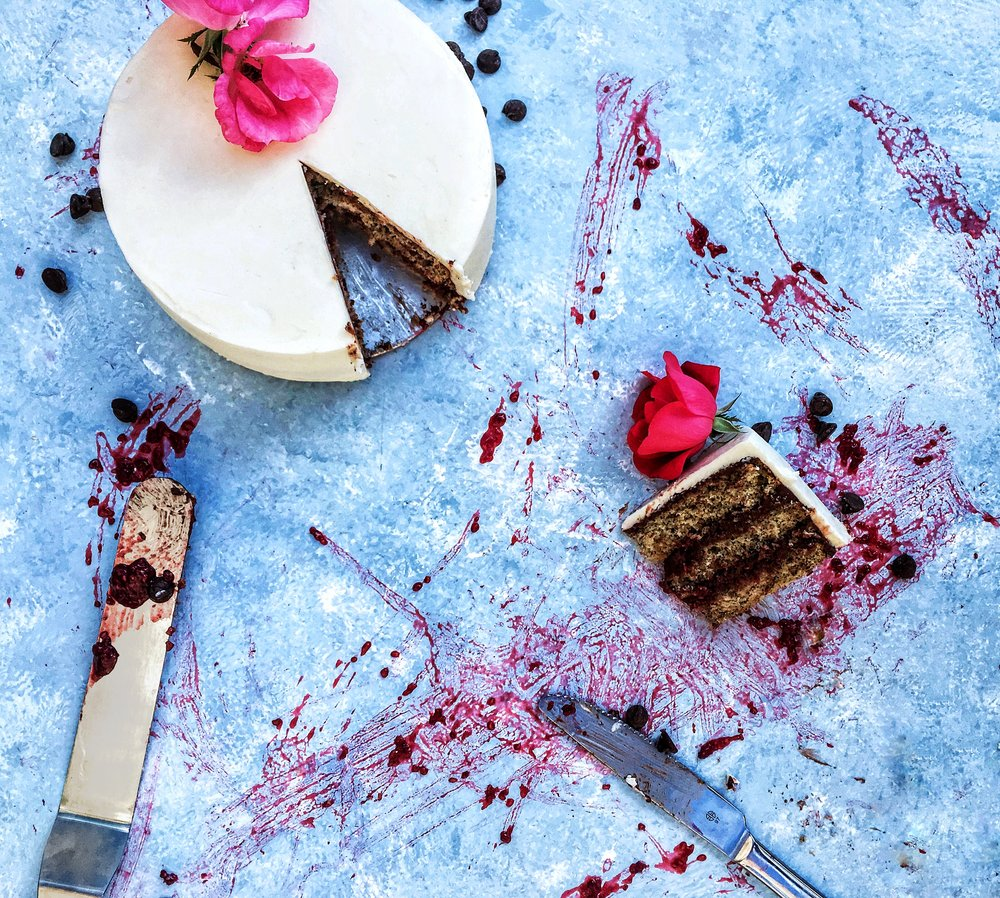 Earl Grey, Chocolate, and Raspberry Layer Cake