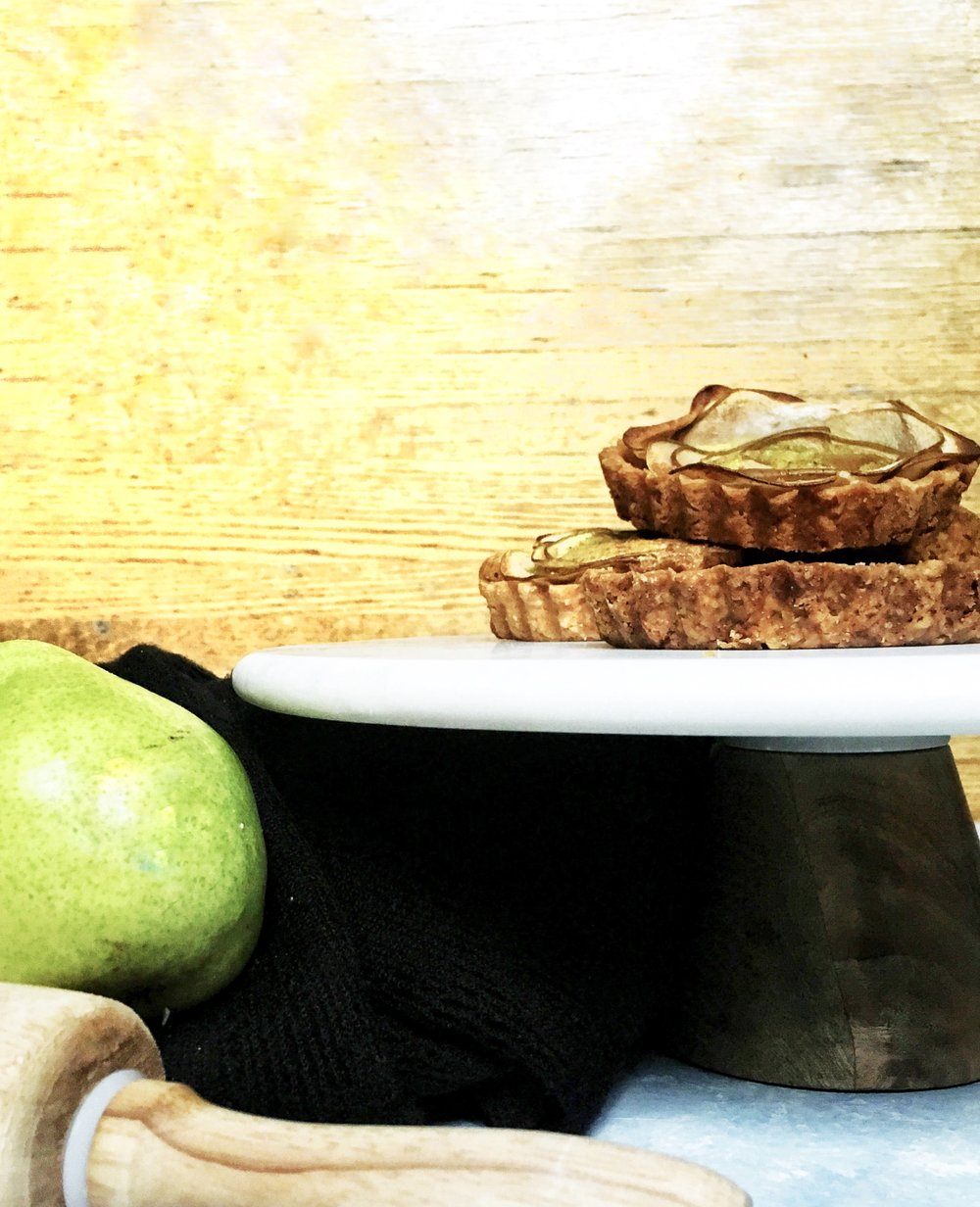 Turmeric, Ginger, & Pear Frangipane Tarts