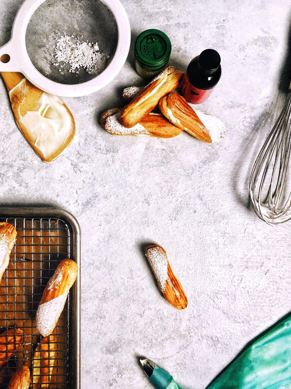 Almond Ginger Èclair