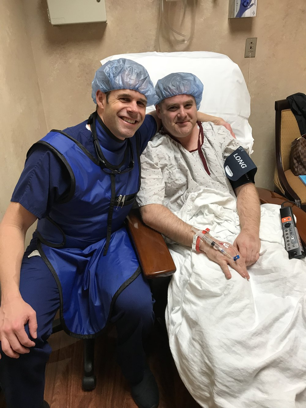 Dr. Nash (left) with David Duke (right) just before his procedure.