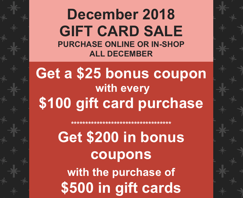 **Bonus coupons cannot be combined with other offers. Limit of one bonus coupon may be applied per tattoo.
