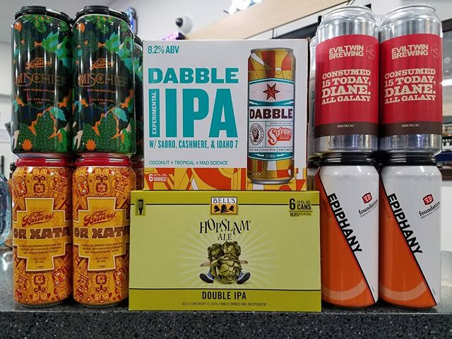 It's here! Hopslam from @bellsbrewery makes its long-awaited debut. Joining it are a few old favorites from @thebruery (cans!) and some gems of the hazy variety.