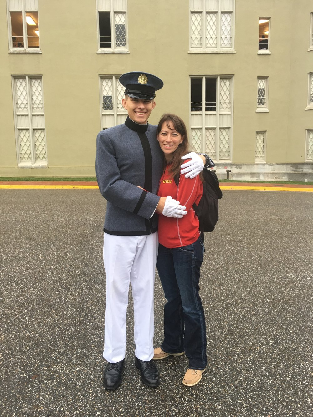 Paul Brown and Mom VMI.jpg