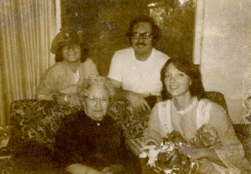 John Wiggins (Brother), Jim Wiggins (Dad), Josephine Colesberry (Great Grandmother), Romey Wiggins (Mom), Los Angeles, CA, 1970