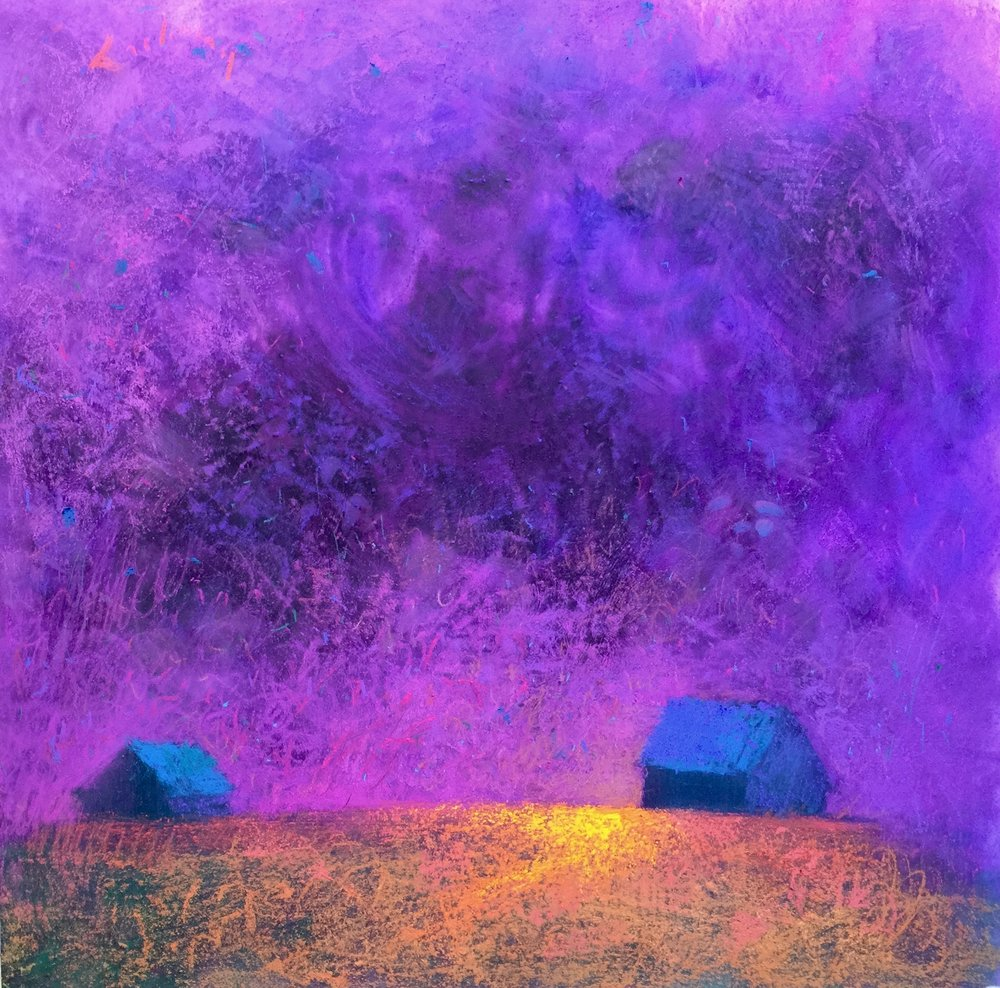 """Bucks Barns on Parade #25"", acrylic and pastel, 28x28"