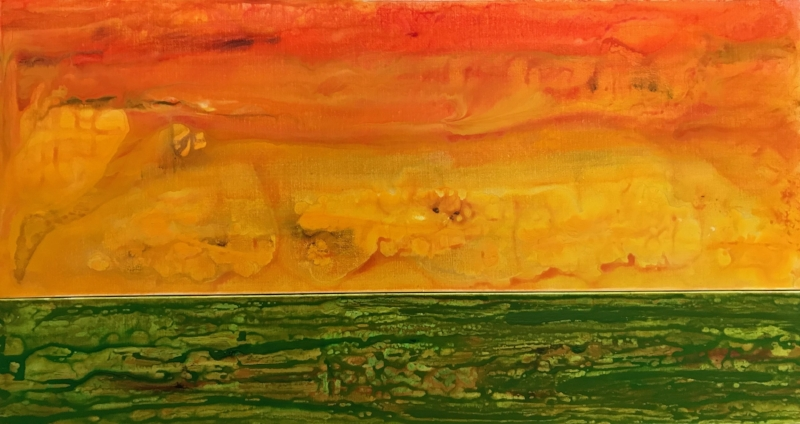 IN AND OUT #1   Acrylic and Oil, 32x60   Available