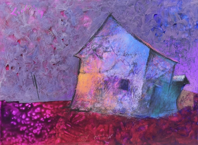 THE HAUNTING   Pastel and Acrylic, 24x30   SOLD