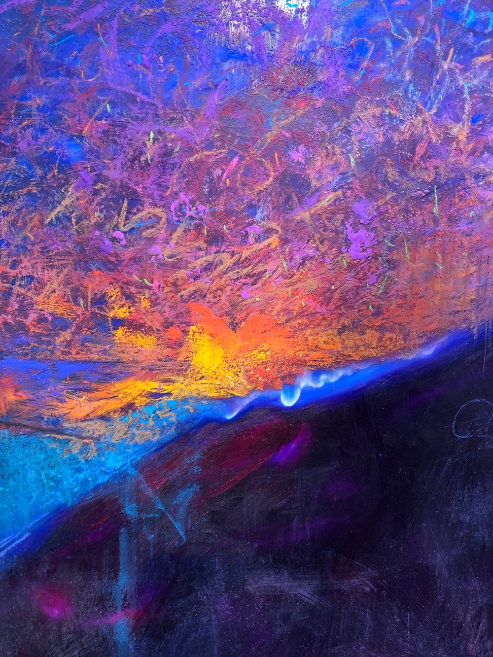 DOES THE RISING SUN AFFRIGHT?   Acrylic and Pastel   Available