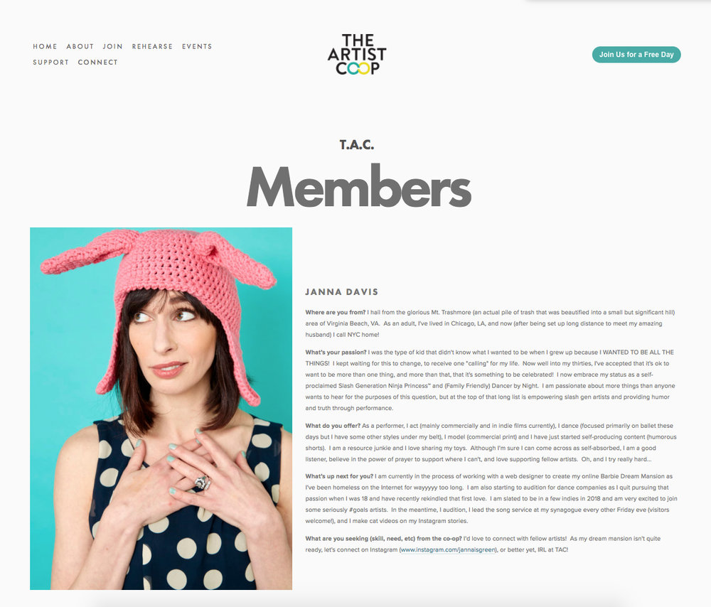 Featured on The Artist Co-op - http://www.theartistco-op.com/tac-community/
