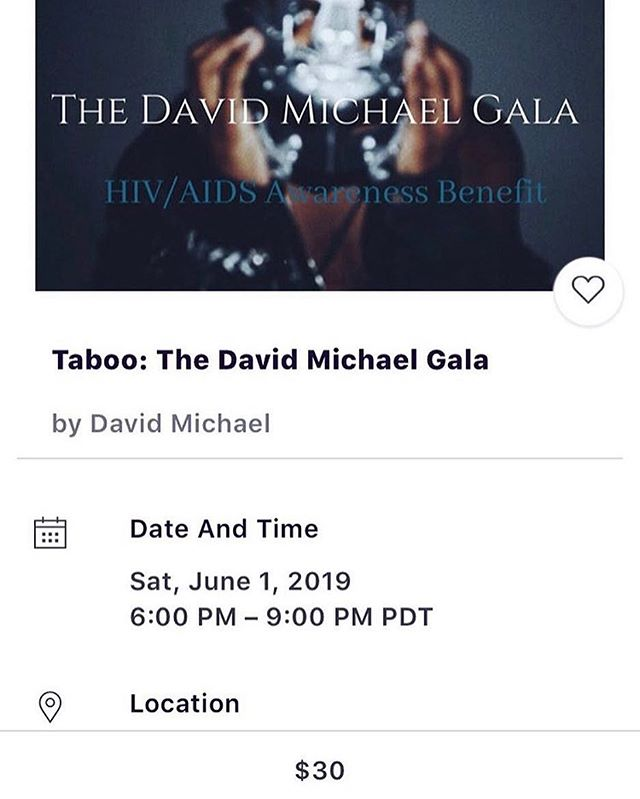 #thedavidmichaelgala an HIV/AIDS awareness event....Come join us June 1st for an amazing afternoon!!! #Oakland #PrEPSupports #bayarea