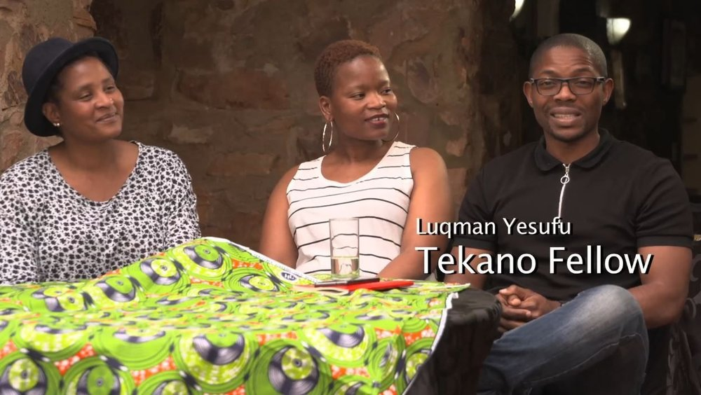 Luqman Yesufu with his Fellow Azanians Lena Stofile (left) and Zanele Figlan (all three are environmental health practitioners that met through Tekano)
