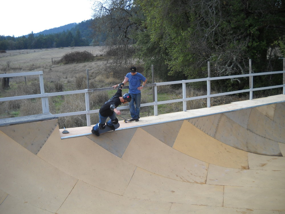 Old ramp at the Southern Humboldt Community Park