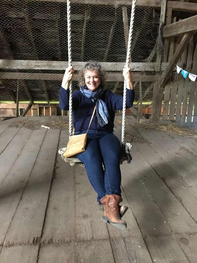 There is even a swing in the hay loft! ~ photo Rosemarie Pierre