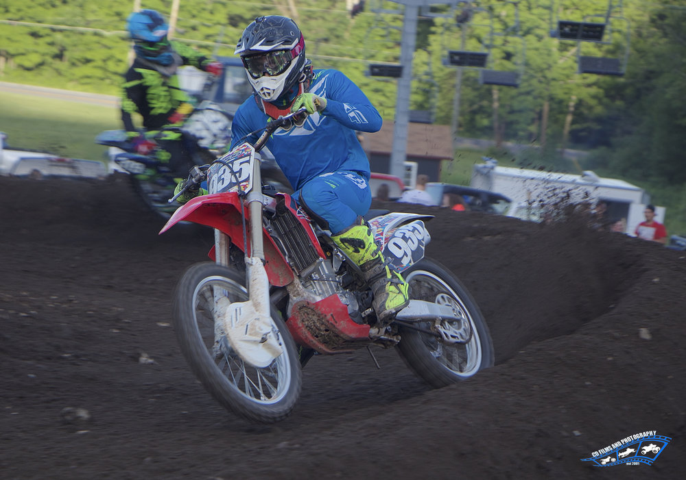 Brandon Young (#935) coming out of a turn at Royal Mountain.