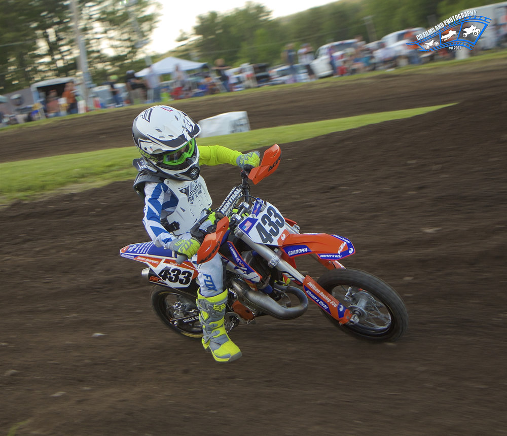 Moto Maxx Miller #433 is seen here ripping up the track.