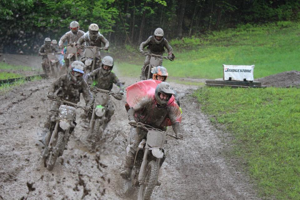 Mud Bogs - Riders waiting their way on the motocross track on Sunday during a rain soaked moto. Photo credit to Joline Wright