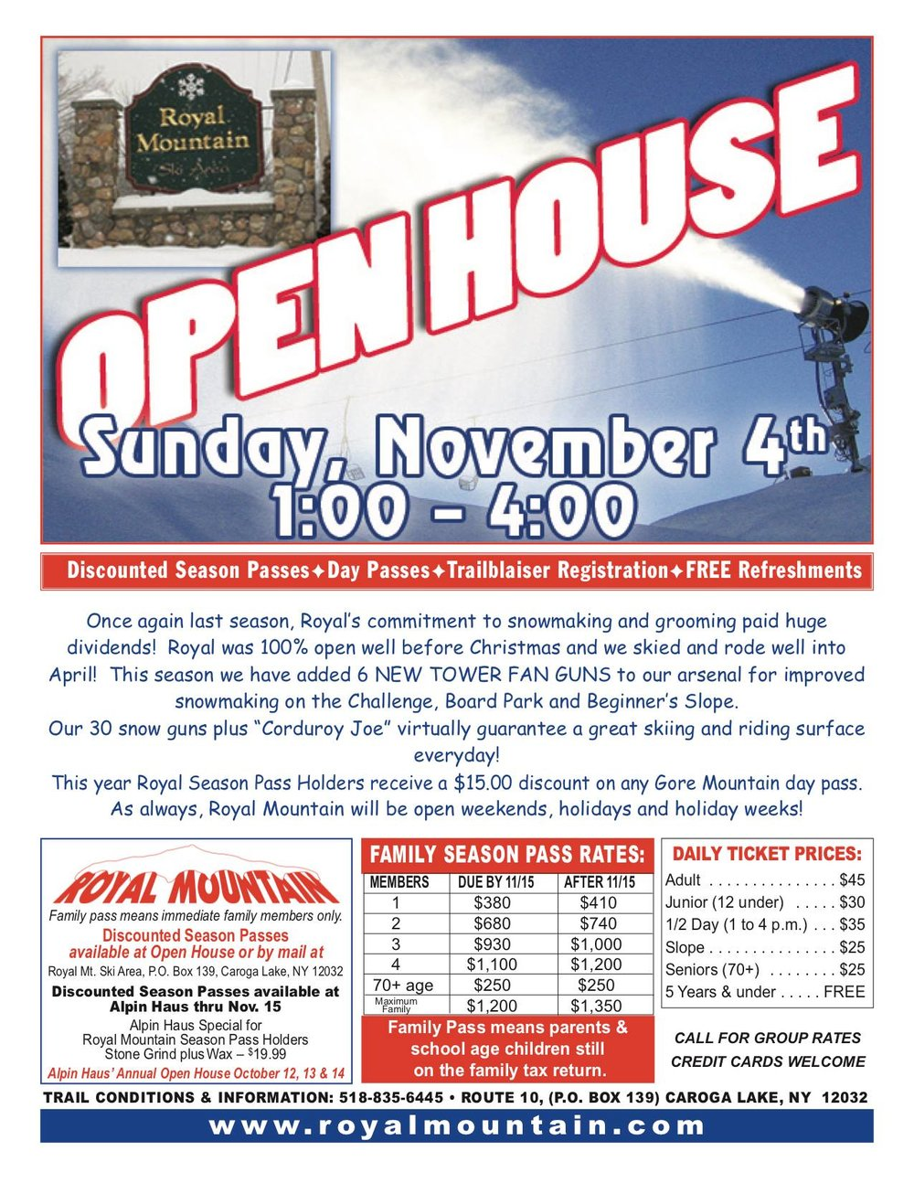 Open House - November 4th