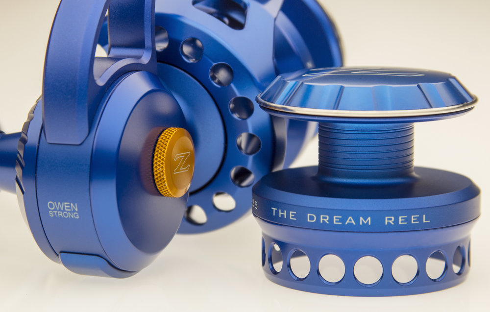 A one-of-a-kind reel could be yours.  An ALL blue reel ZeeBaaS 25/27 combo is representative of Owen: blue because he is a boy and built to handle anything. The orange maintenance cover drag knob is the only other hint of color on this reel and it represents the color of the cancer little Owen is fighting (ALL: Acute Lymphoblastic Leukemia).  Anodization: The reel body is bead-blasted and parts are polished, creating a unique 2-tone effect using 1 solid color.  2 Reels in 1: a ZX-25 with an interchangeable ZX-27 additional spool for growth.  Price: $1,300 if it was a regular stocking reel, but it's far from that. The chance to help Owen win this fight is PRICELESS. Make his DREAM REAL. For every $10 you donate to the family you get 1 chance to win this reel. Give $30 and get 3 chances to win.