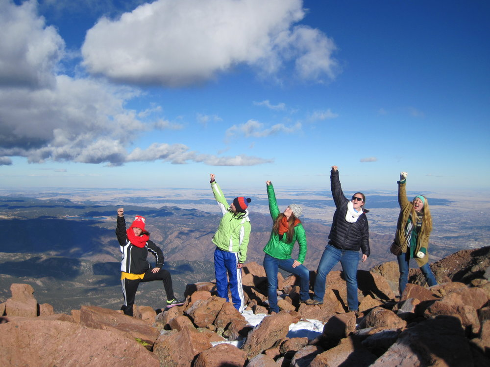 The Colorado Episcopal Service Corps Members at Pikes Peak. Photo courtesy Colorado Episcopal Service Corps