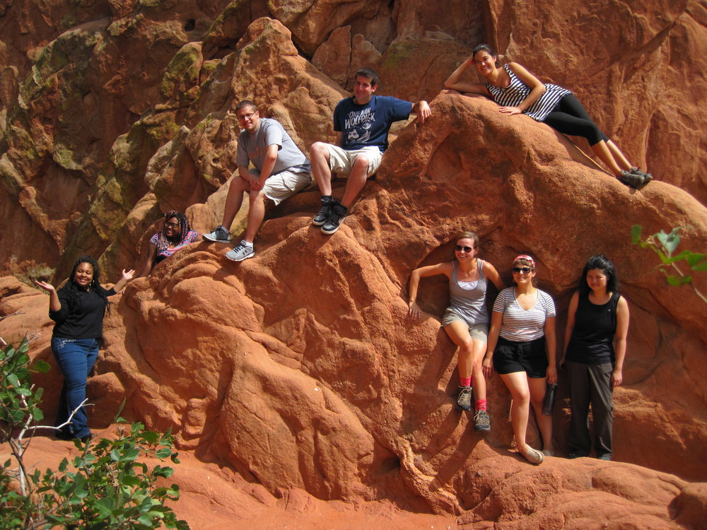 Colorado Episcopal Service Corps Members at Garden of the Gods. Photo courtesy Colorado Episcopal Service Corps