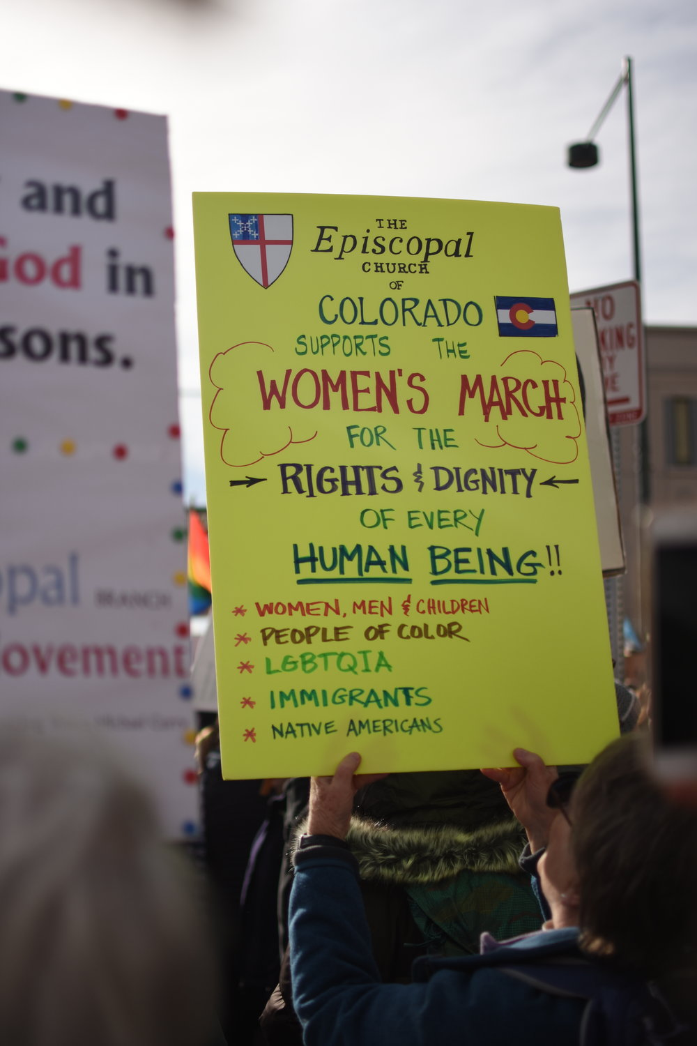 Parishioners from churches across the diocese participated in the Women's March in Denver. Photo courtesy Anthony Suggs
