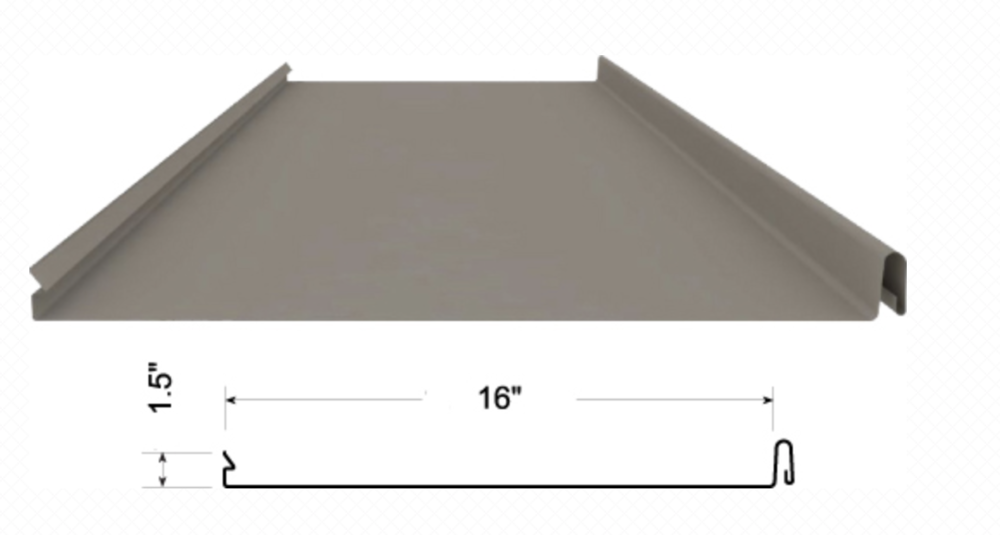 "MetLok is a vertical 1.5"" snap-lock standing seam panel ideal for architectural commercial applications."