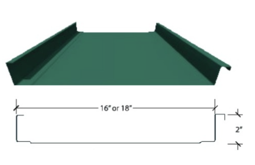 MetSeam is a clean and attractive standing seam roof system with easy snap together installation.