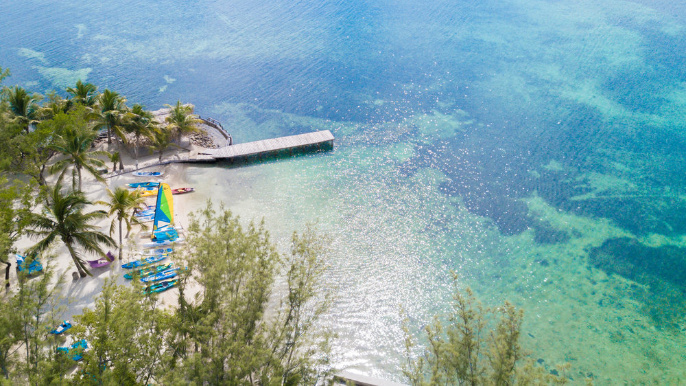 Private Island Day - Take a ride on the dive boat and get dropped off at Thatch Caye private island resort. Spend the morning (8 am to 1 pm) enjoying Thatch Caye's facilities, including kayaking, beach toys, and more. Lunch is always included.