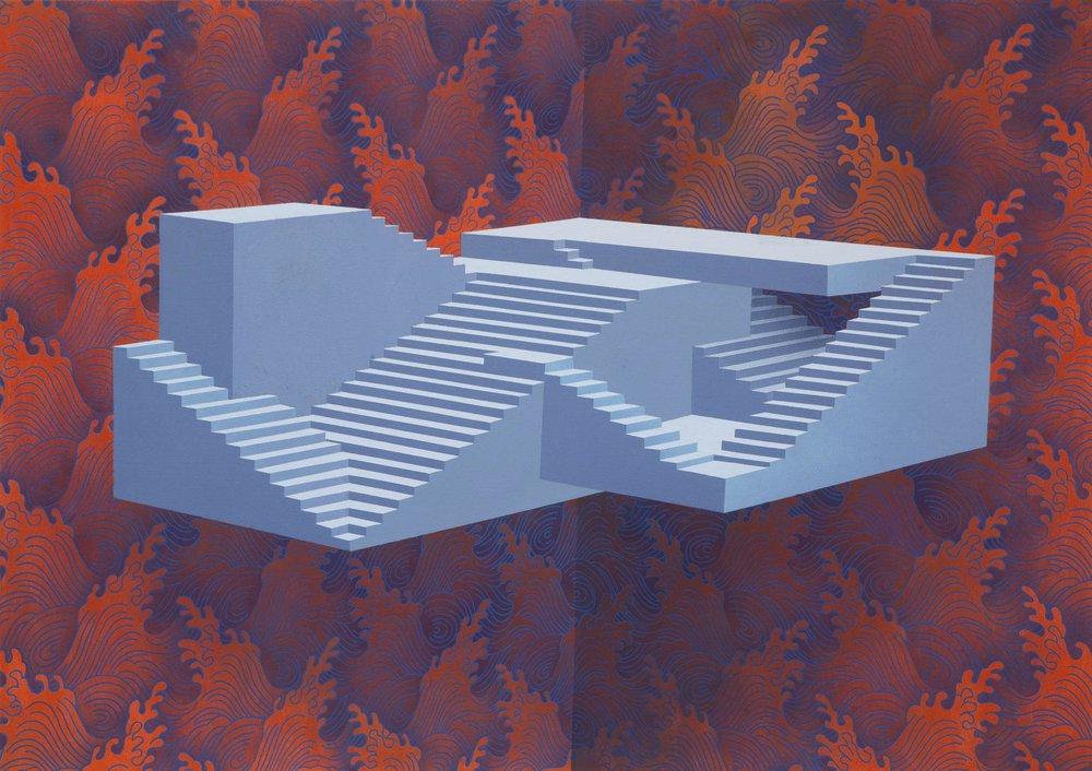 BACKSLASH - Sépand Danesh Déluge 2016, Acrylique sur toile 140 × 200 cm Courtesy de l'artiste et Backslash