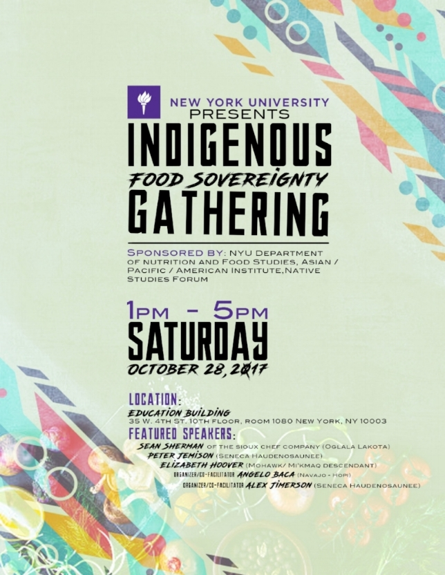 Flyer Design Courtesy of Ikerson Hopper (Onondaga  Haudenosaunee)