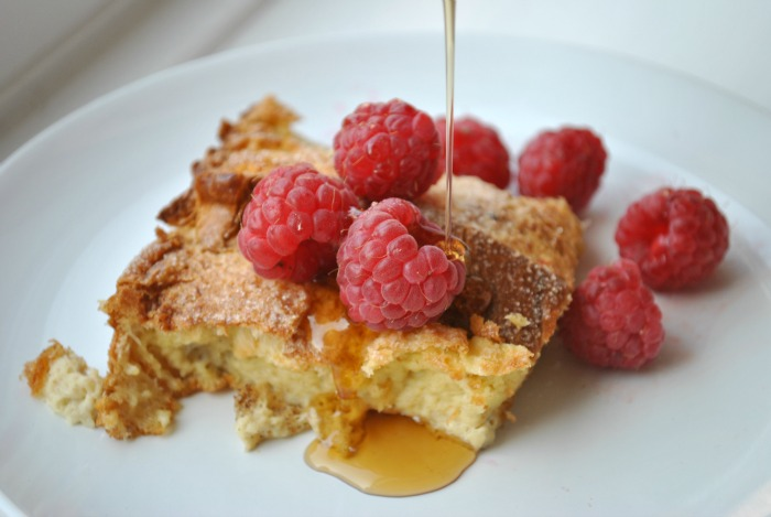 raspberries and french toast