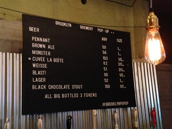 brooklyn brewery menu