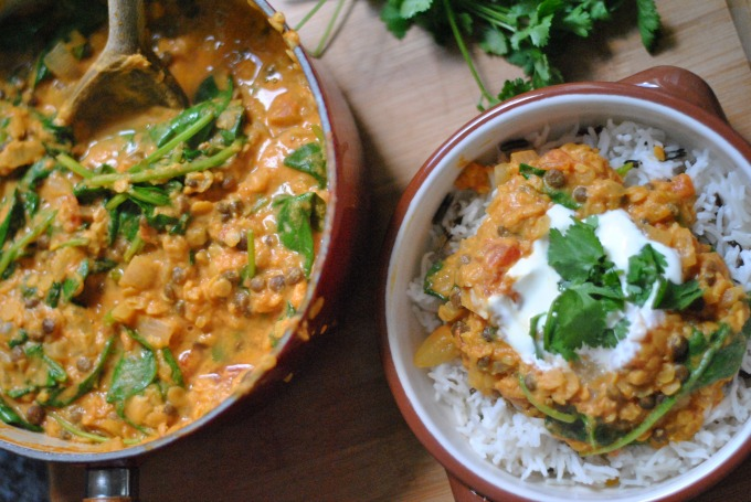 Spinach & Lentil Curry