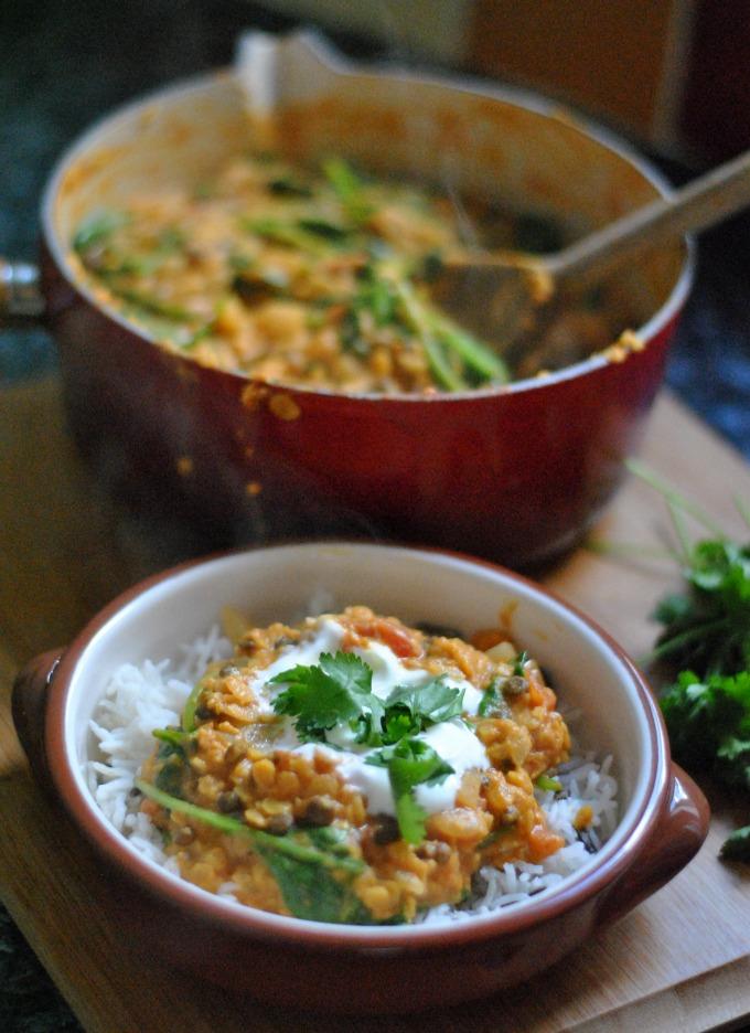 Lentil & Spinach Curry // Amy Elizabeth