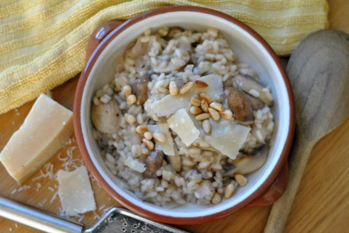 Baked Mushroom & Artichoke Risotto // Amy Elizabeth